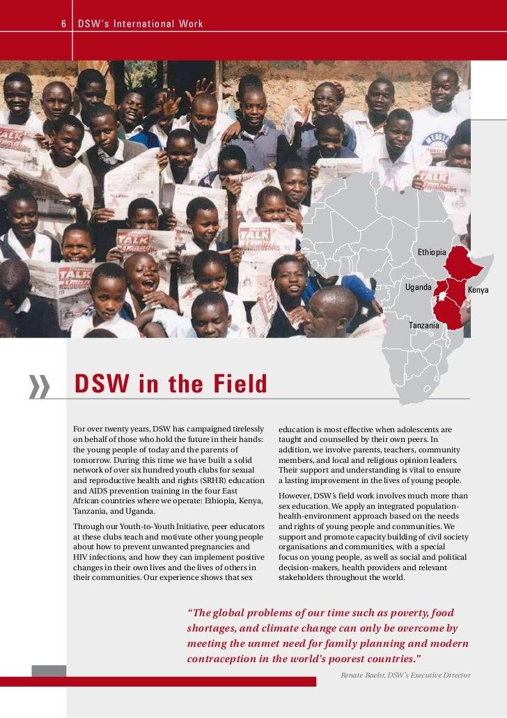 6    DSW' s Inte rnational Work                                                                                           ...
