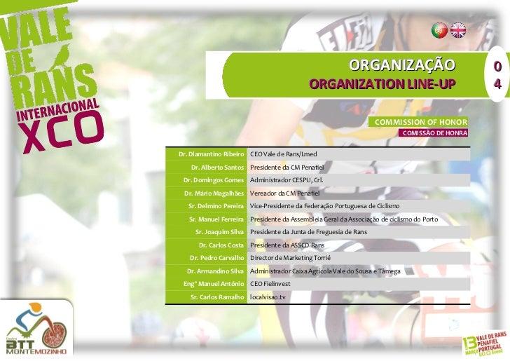 ORGANIZAÇÃO                             0                                           ORGANIZATION LINE-UP                  ...