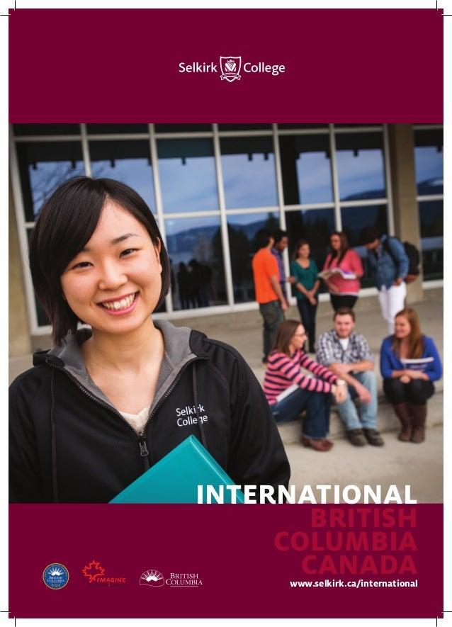 Selkirk College Internation Brochure 2015 06 A4 Print