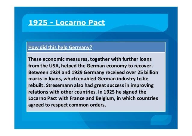 History Locarno Treaties 1925 The Locarno Pact 1925 2019 01 17