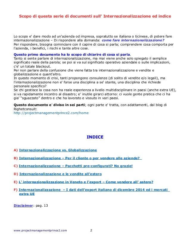 Come Fare Internazionalizzazione di Aziende ed Imprese italiane? Parte 1 Slide 2