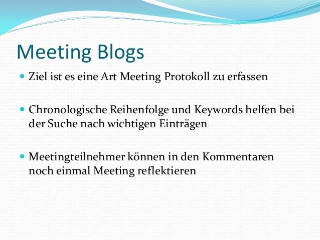 Interne Blogs für Präsentation Slide 2