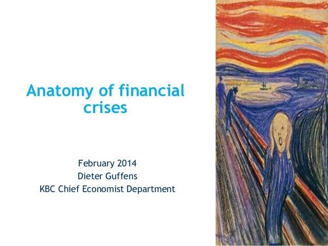 Anatomy of financial crises  February 2014 Dieter Guffens KBC Chief Economist Department