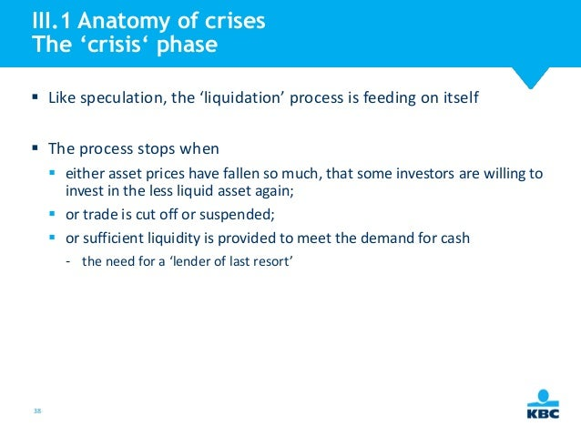 anatomy of a financial crisis Getting out of our current financial mess requires understanding how we got into it in the first place the fundamental cause, according to the likes of john mccain, was greed and corruption on wall.