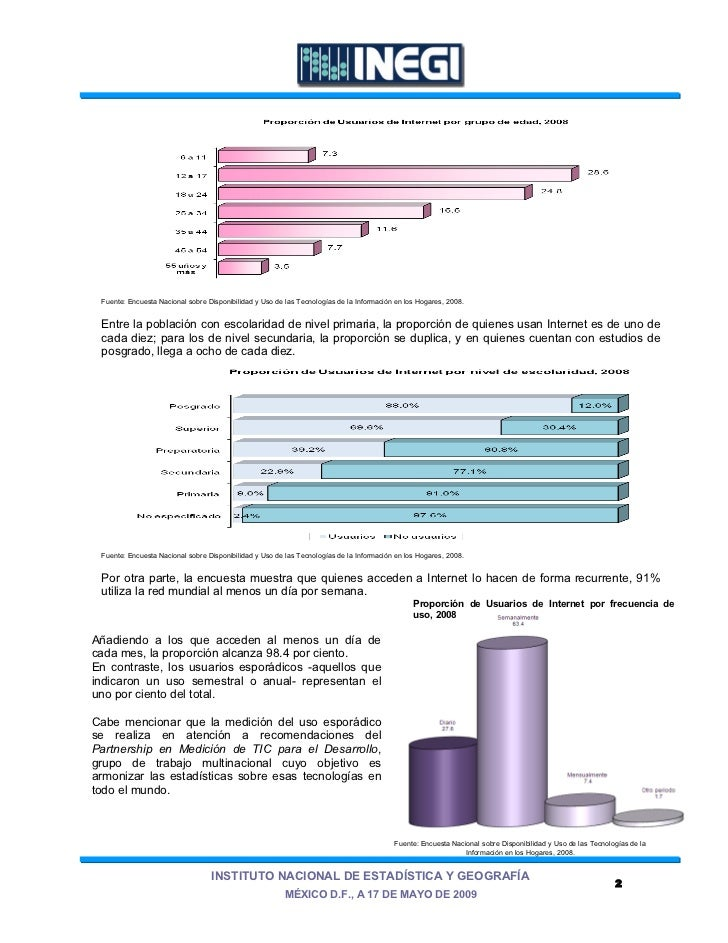 Fuente: Encuesta Nacional sobre Disponibilidad y Uso de las Tecnologías de la Información en los Hogares, 2008. Entre la p...
