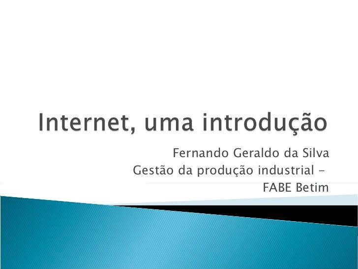 Fernando Geraldo da Silva Gestão da produção industrial -  FABE Betim