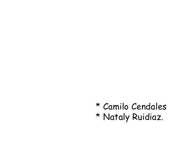 * Camilo Cendales* Nataly Ruidiaz.