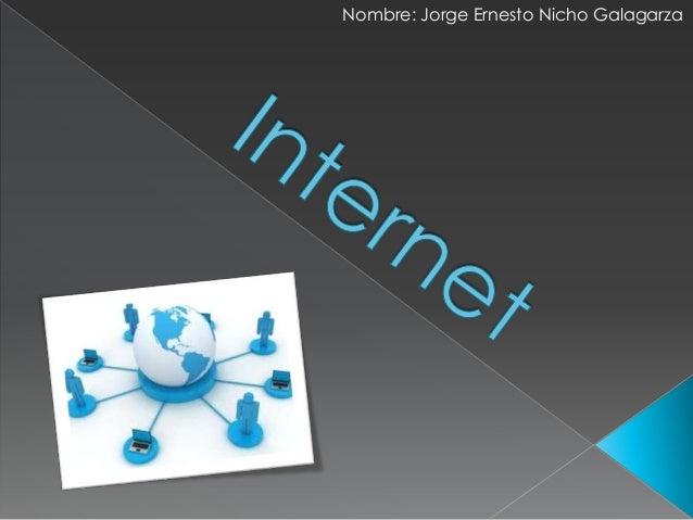 Nombre: Jorge Ernesto Nicho Galagarza