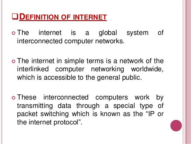 simple definition of internet pdf