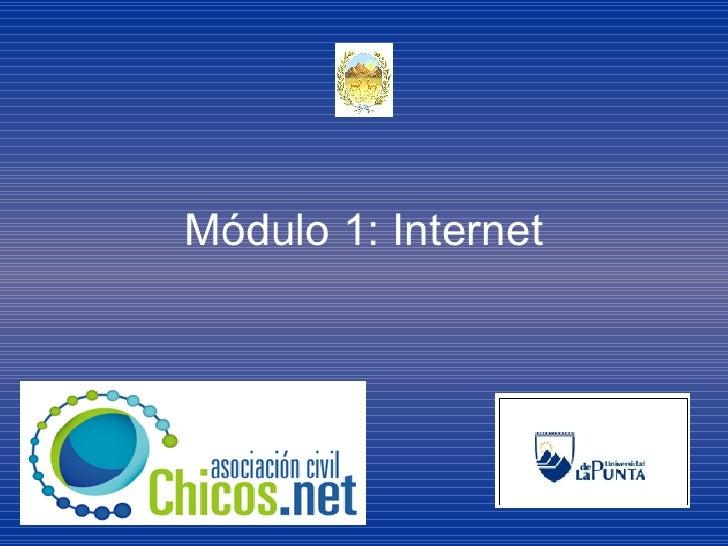 Módulo 1: Internet
