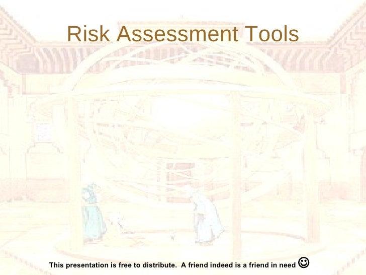 Risk Assessment Tools