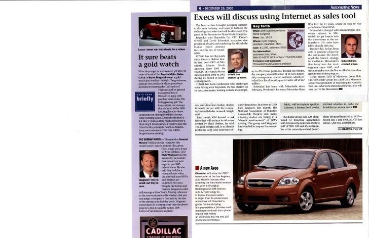 Internet   Auto Execs Discuss Internet As Sales Tool