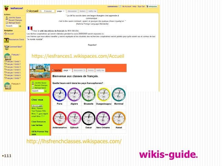https://iesfrances1.wikispaces.com/Accueil http://lhsfrenchclasses.wikispaces.com/ wikis-guide . <ul><li></li></ul>