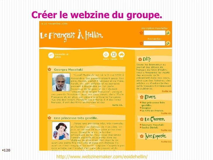<ul><li></li></ul>Créer le webzine du groupe. http://www.webzinemaker.com/eoidehellin/