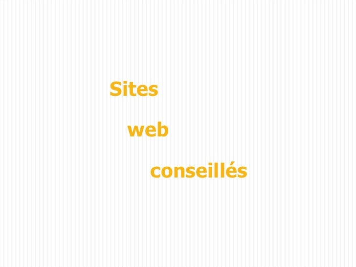 Sites web  conseillés
