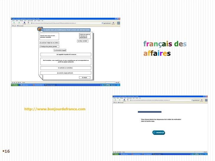 f r a n ç a i s   d e s   a f f a i r e s http://www.bonjourdefrance.com <ul><li></li></ul>