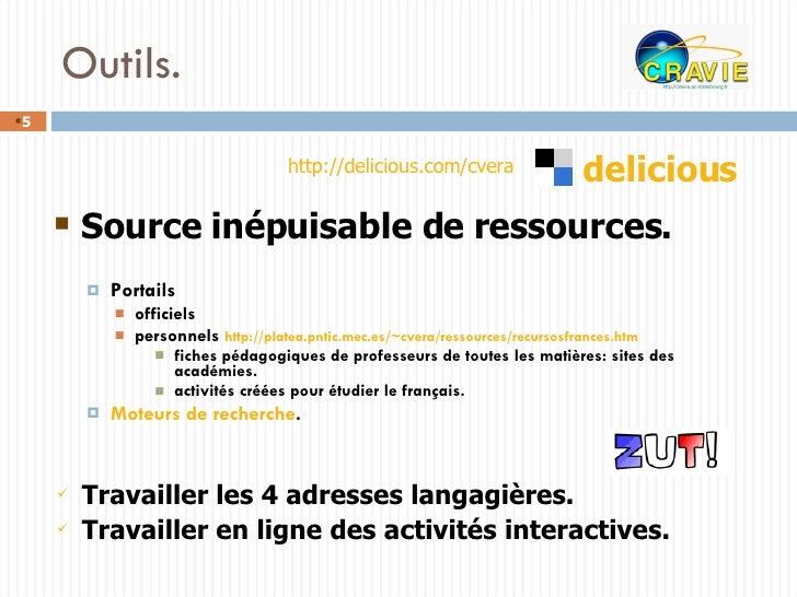 Outils. <ul><ul><li>Portails </li></ul></ul><ul><ul><ul><li>officiels </li></ul></ul></ul><ul><ul><ul><li>personnels  http...