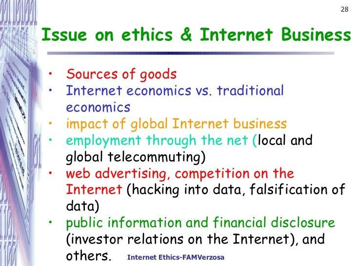 internet ethics issues