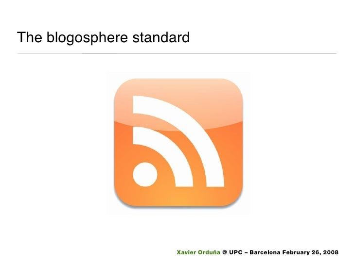 The blogosphere standard