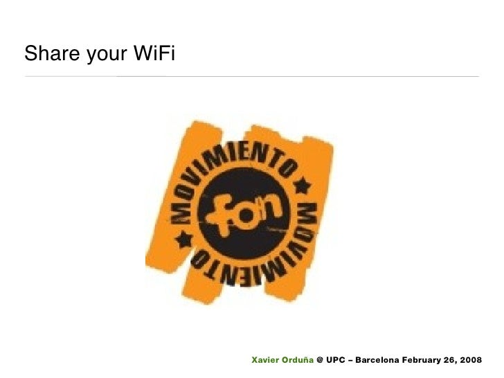 Share your WiFi