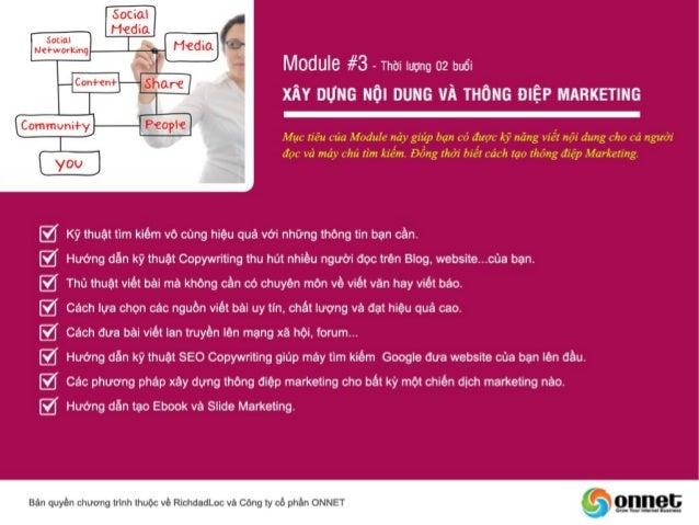 Khóa học Internet Marketing - Đào tạo Internet Marketing Coaching