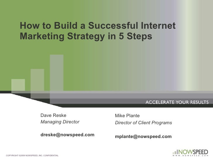 How to Build a Successful Internet Marketing Strategy in 5 Steps Dave Reske Managing Director [email_address] COPYRIGHT ©2...