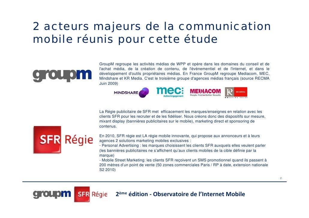 Internet mobile : GroupM et SFR Régie Slide 2