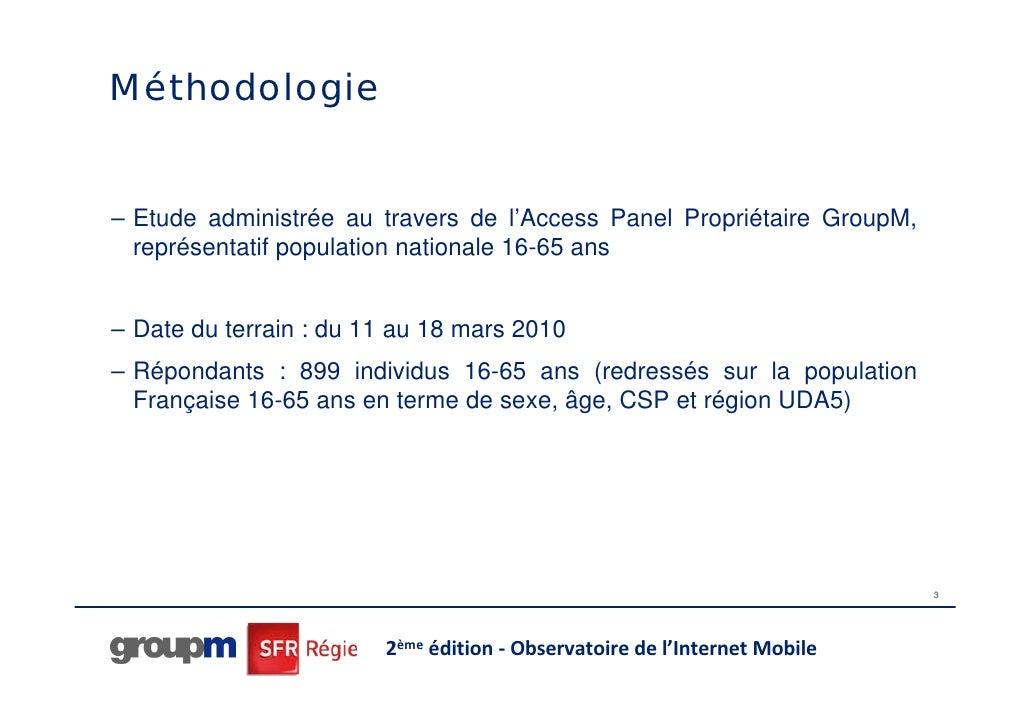 Internet mobile : GroupM et SFR Régie Slide 3