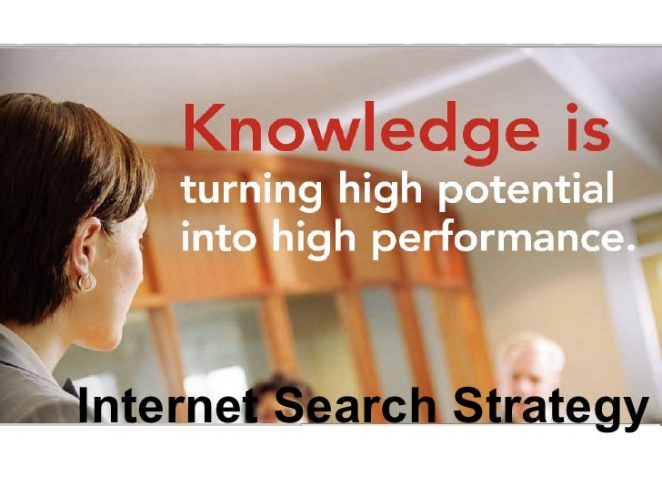 Internet Search Strategy