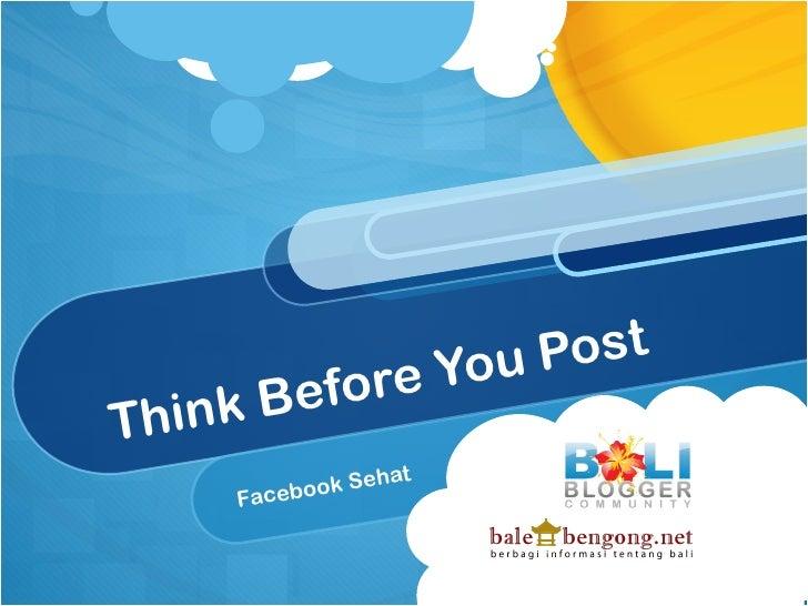 You Post    nk BeforeThi                  hat     Faceb ook Se