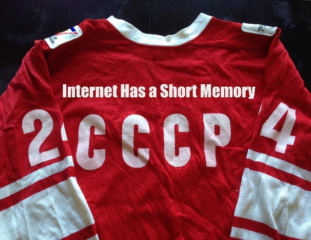 Internet Has A Short Memory #archiving #documenting #future #art