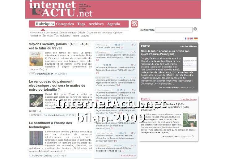 InternetActu.net bilan 2009