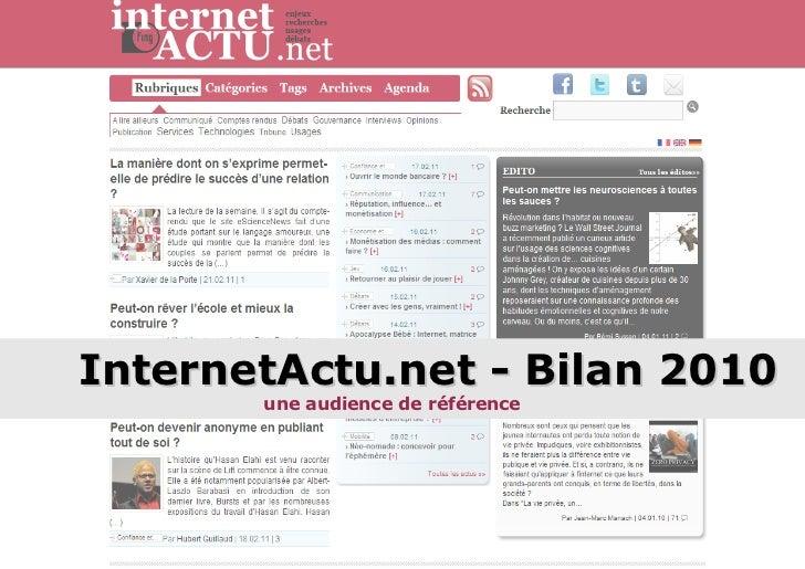 InternetActu.net - Bilan 2010 une audience de référence