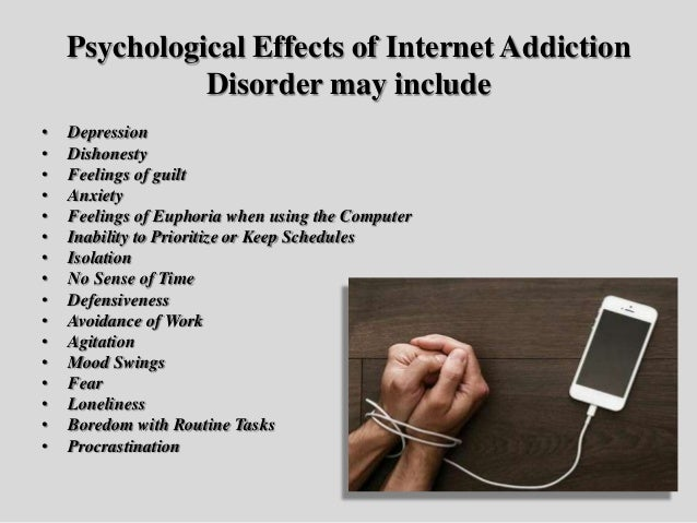 Psychological effects of internet use