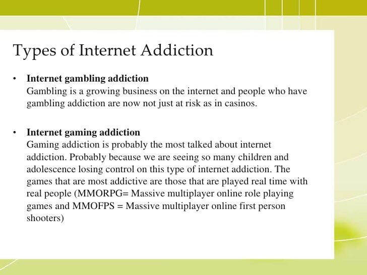 Dangers of gambling and internet addiction castle harbour casino