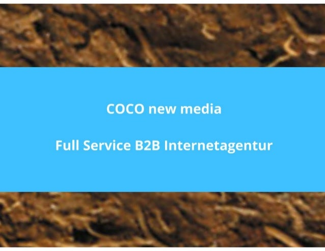 B2B Internetagentur Muenchen COCO new media