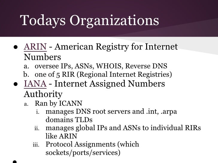 american registry for internet numbers essay Learn about the development and criteria of the diagnostic and statistical manual of mental disorders (dsm–5.