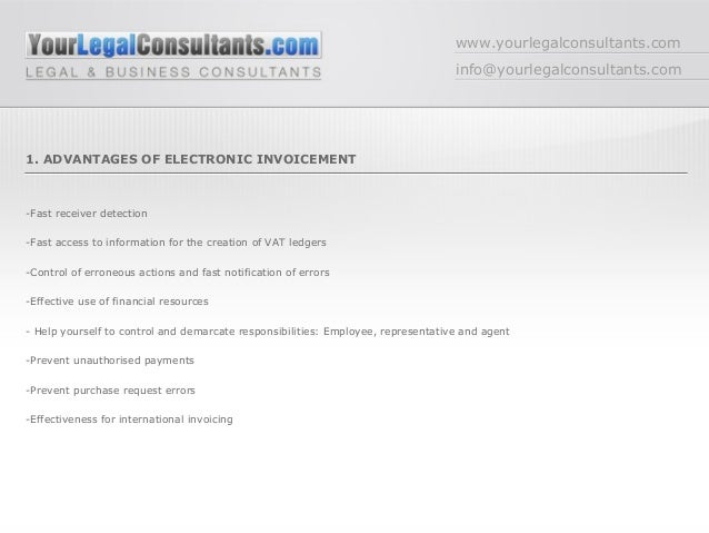 internet electronic invoicement legal requirements