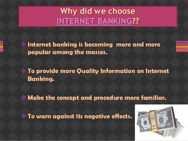 Internet banking - College Project Slide 2