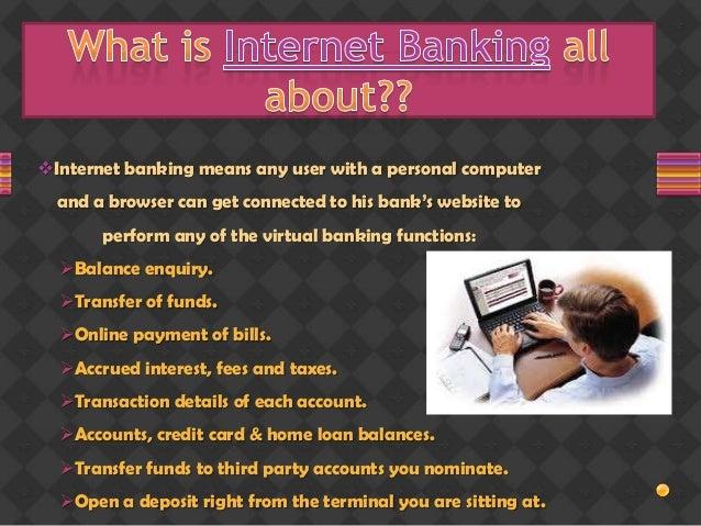 Internet banking - College Project Slide 3