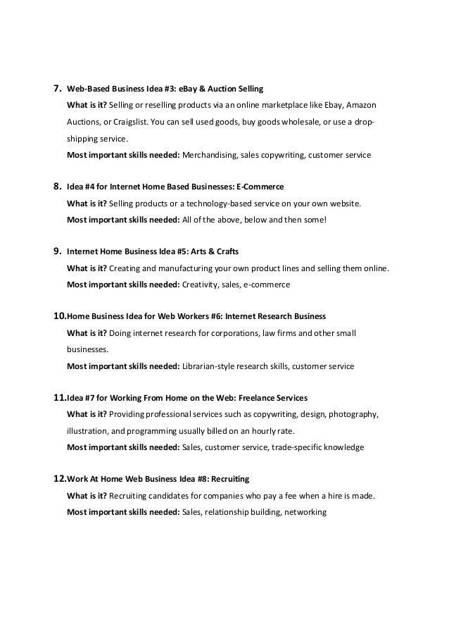 Internet based business startup rules
