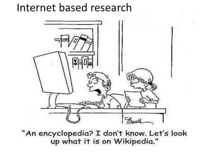 Internet based research