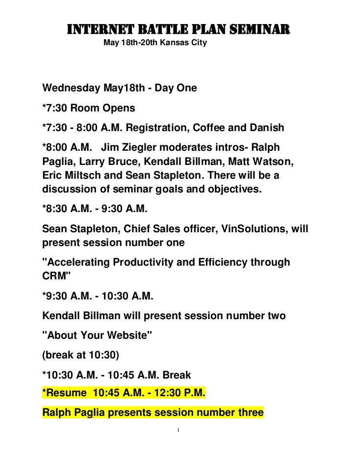 Wednesday May18th - Day One<br />*7:30 Room Opens<br />*7:30 - 8:00 A.M. Registration, Coffee and Danish<br />*8:00 A.M.  ...