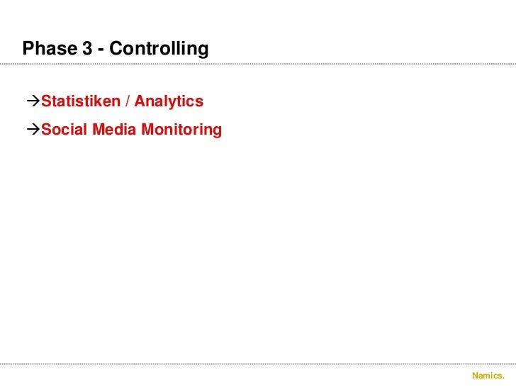 Phase 3 – Controlling.<br />Statistiken / Analytics<br />Social Media Monitoring<br />