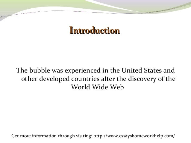 sample essay on the internet bubble history