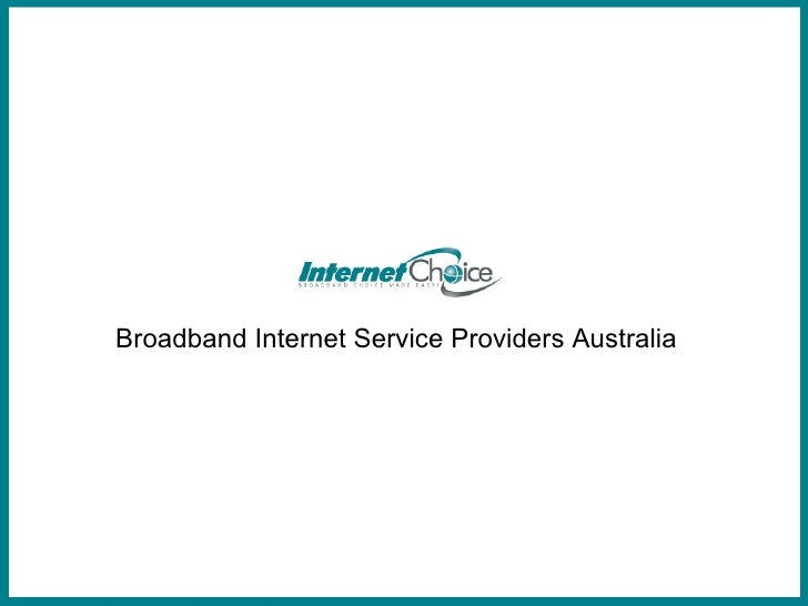 Broadband Internet Service Providers Australia