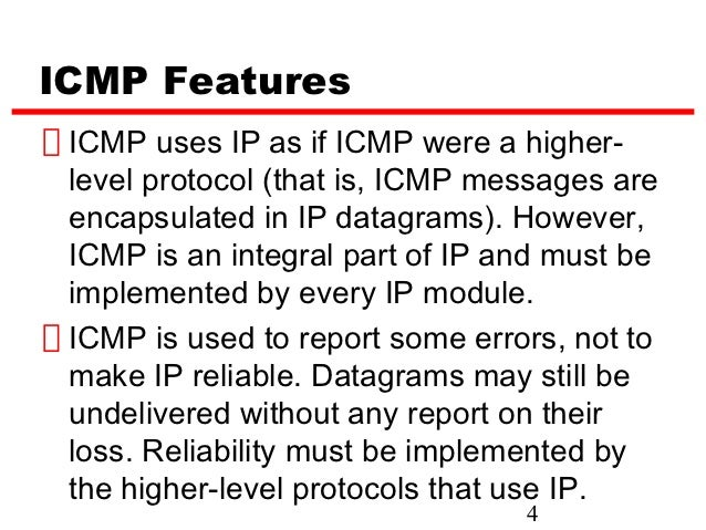 icmp internet control message protocol Internet control message protocol version 6 (icmpv6) is the implementation of the internet control message protocol (icmp) for internet protocol version 6 (ipv6) icmpv6 is defined in rfc 4443.