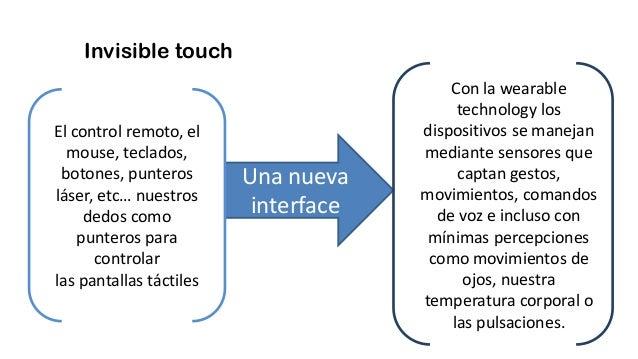 Invisible touch Una nueva interface El control remoto, el mouse, teclados, botones, punteros láser, etc… nuestros dedos co...