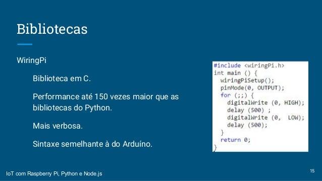 internet das coisas iot com raspberry python e node js rh slideshare net
