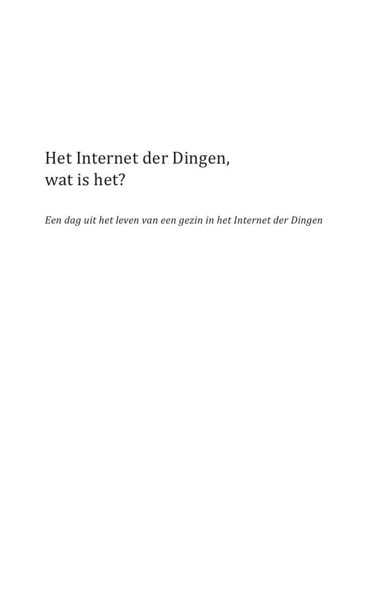 Het Internet der Dingen, wat is het?  Een dag uit het leven van een gezin in het Internet der Dingen